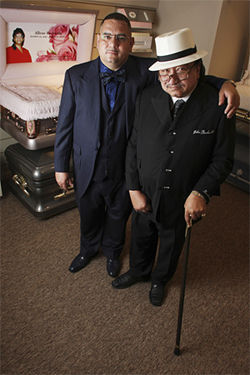 John Beckwith Sr. (right) created Golden Gate Funeral Home determined to offer good service to all families, regardless of income. His son John Beckwith Jr. continues the family tradition at what is now one of the biggest funeral homes in the Southwest.