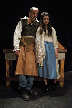 Matthew Posey and Elizabeth Evans live close to the bone in The Butcher at Ochre House theater.
