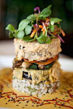 The eggplant stack: Just looking at it makes you want to give up steak, doesn't it?