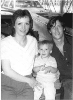 Brenda and Jerry Morgan with their toddler son, Devin, shown here shortly before they were murdered in their Longview home.