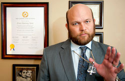 When it comes to fighting pirates, all's fair for Denton attorney Evan Stone.