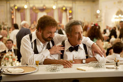 Paul Giamatti and Dustin Hoffman play father and son in the mushy pudding film version of a sharper-edged novel, Barney's Version.