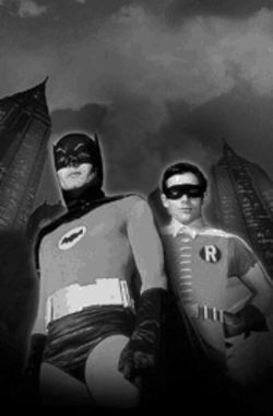Holy panty lines! Batman (Adam West) will go it alone this weekend, as Robin (Burt Ward) has opted out of the  Bat-Con.