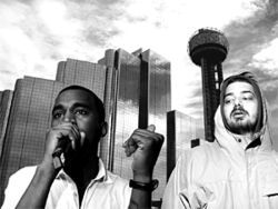 The dream: Kanye West (left) and Aesop Rock rhymin&#039; simultaneously at a Dallas hip-hop music festival. The reality: Well, really, why not?