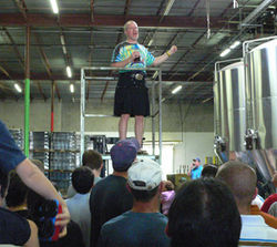 The tour guide at Saint Arnold Brewing Company in Houston explains how beer is made.