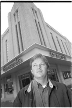 Magnolia Pictures' co-founder and CEO Bill Banowsky stands in front of the first--but not last--Magnolia Theatre.