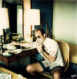 Dr. Hunter S. Thompson, the father of gonzo journalism