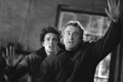 Raise your hands if you're sure: James Franco, left, and Robert De Niro elevate City above sea level.
