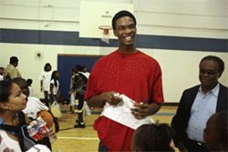 At Lincoln High School in South Dallas, Bosh led his team to a 40-0 record and the Class 4A State Championship.