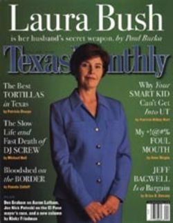 The new design at Texas Monthly calls for the RANDOM use of CAPITAL letters.