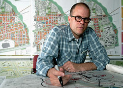 CityDesign Studio director Brent Brown designed the surrounding plans for the future of West Dallas.