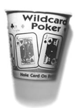 In the cards: Wardrip's undoing began when he took this coffee cup outside with him during a morning snack break.