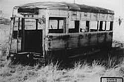 Toni Gibbs is thought to have been murdered in this abandoned trolley car in a Wichita Falls field.