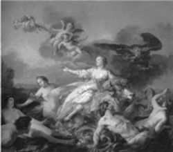 """The Abduction of Europa,"" a 1750 rococo confection by Jean-Baptiste-Marie Pierre, on view at the DMA"