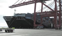"A South Korean shipping firm named its new ship the ""Hanjin Dallas"" because so much of its cargo comes here."