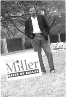 Easy work, if you can get it. Consultant Rob Allyn is the man behind Miller's re-election campaign.