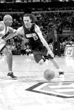 Lean on me: Steve Nash's care with the ball is one of the little things the Mavs do right.
