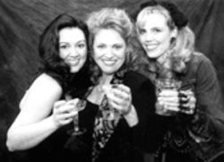 Stephanie Young, Marisa Diotalevi and Sue Loncar drink to Chaos.