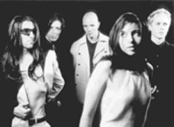 """Billy really is the main songwriter in this band,"" says Maynard James Keenan, far left, of Howerdel, center. ""It's his band."""