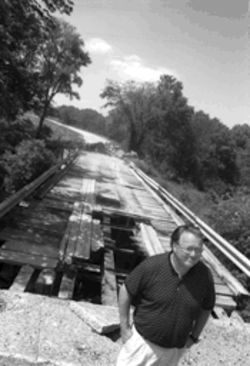 Jerry Gutheinz believes that whoever left his son's body under this remote decrepit bridge must have been familiar with the area.