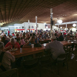 The barbecue is a fund-raiser for the old German dance hall of the Millheim Harmonie Verein, which was established in 1872.