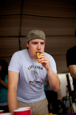 Nate Biller, the top-ranked competitive eater in Texas, struggled through this year's tamale championship in Lewisville, but says his best eating days still lie ahead.