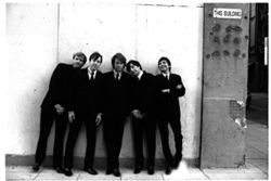 """The Beatles had the Cavern,"" says Hard Night's Day bassist Mark Ehmann (second from right). ""We have Club Dada."" Not to mention an extra, fifth member. Advantage: HND."