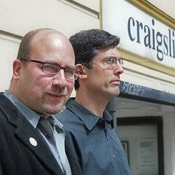 Craigslist creator Craig Newmark and CEO Jim Buckmaster are weathering a storm of criticism that their successful digital classified site is promoting illicit activity.