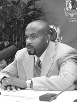 Mavs' man: Tim Hardaway gets to the point.