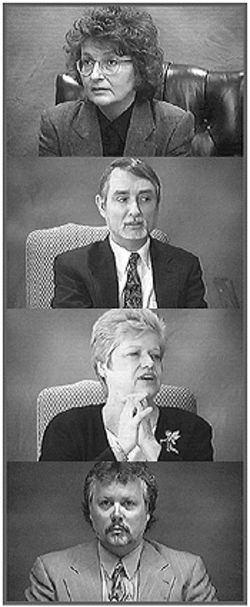 In May 1998, Hurt filed a malpractice suit against her former therapists, (top to bottom) Kathleen Stanley, Stephen Ash, Mary Ellen Grundman, and Colin Ross.