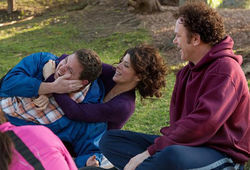 Jonah Hill, Marisa Tomei and John C. Reilly star in a weirdly funny three-way.