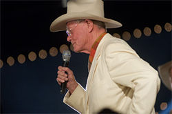 The man they came to see, J.R. himself, Larry Hagman