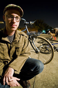 Jason Roberts, who founded Bike Friendly Oak Cliff,