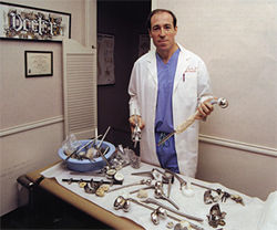 Orthopedic surgeon Dr. Richard Buch can do things in the operating room that &quot;most mortal doctors would never dream of,&quot; says a former colleague.