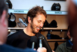 Mike Modano can still bring the heat from the blue line as he did in Game 2 of the playoffs against the Anaheim Ducks.