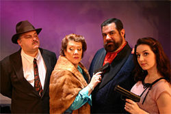 Charles E. Moore, Sara Shelby-Martin, Michael Roe and Alexis Nabors are unusual suspects in Death: The Musical.