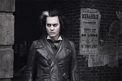 In Depp: The former 21 Jump Street star cuts a wide swath through Sweeney Todd.