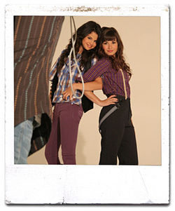 BFFs Selena Gomez and Demi at a photo shoot for Teen Magazine. It's every girl's dream!
