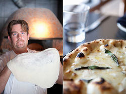 Pizza chef Robert Proehl shows off Dough's dough.