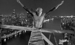 It's a bird, it's a plane: Spidey (Tobey Maguire) soars in trademark Sam Raimi style.