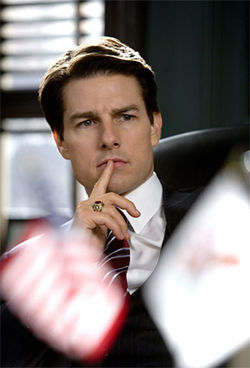 Tom Cruise as a U.S. senator? Is anyone, anywhere buying that?