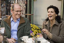 Richard Jenkins and Hiam Abbass in The Visitor