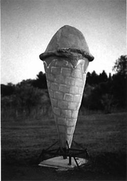 The giant strawberry ice cream cone of Wadena