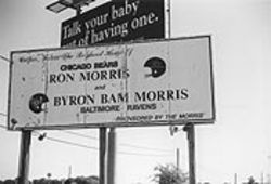 It's tough keeping up with the twist and turns in Bam Morris' life, as this sign outside Cooper Indicates. The Ravens were Morris' second-to-last assignment in the NFL. Now he's out altogether.