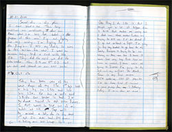 Months after her husband's death, Stacey Markham read these entries in the logbook he kept in Iraq.