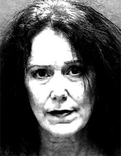 The mugshot of Sandra Bridewell, now going by Camille Powers, taken after her arrest on March 2 in North Carolina