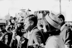 Bob Welch films President and Mrs. Kennedy at Love Field