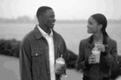 Joy to the world: Antwone Fisher (Derek Luke) finds love and happiness in Denzel Washington&#039;s therapy session.