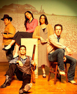 The cast of Kitchen Dog's 3 Foote- from left, Mike Schraeder, Joey Folsom, Liza Marie Gonzalez, Shelley Tharp-Payton, Chris Hury- brings high-caliber acting to a trio of one-acts.