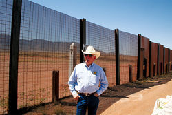 "Cochise County Sheriff Larry Dever at the Fence near Naco, Arizona: ""There are good people coming over here looking for jobs, I understand that. But bad guys are coming in and  will continue to come in no matter what."""